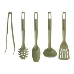 SPECIELL Utensili da cucina, 5 pezzi IKEA Non danneggia le pentole con rivestimento interno antiaderente.