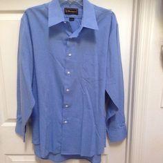 dcf8a54cd Barrington Men's Size 17 Blue Long Sleeve Dress Shirt with 34/35 Sleeve  Length #