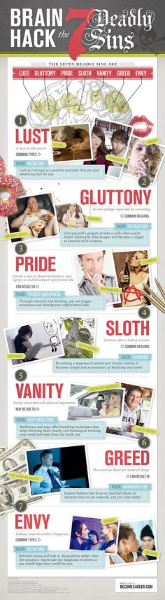 Brain Hack the 7 Deadly Sins - Infographic