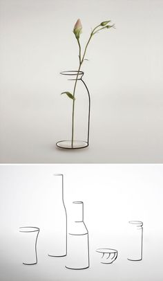 Objects That Seem Like Half-Finished Sketches Of Candle Holders, Vases, Bowls And Bottles