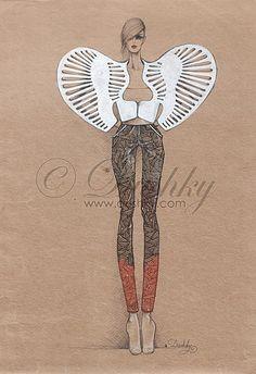 skeleton-skeletoff 3 by dushky.deviantart.com on @deviantART #dushky #fashionillustration