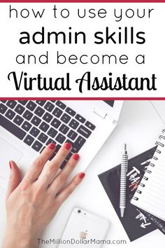 How to become a virtual assistant! Starting your own virtual assistant business is a great way to make money from home and utilize your administrative skills! Make More Money, Make Money Blogging, Make Money From Home, Extra Money, Virtual Administrative Assistant, Virtual Assistant Services, How To Find Out, How To Become, How To Make