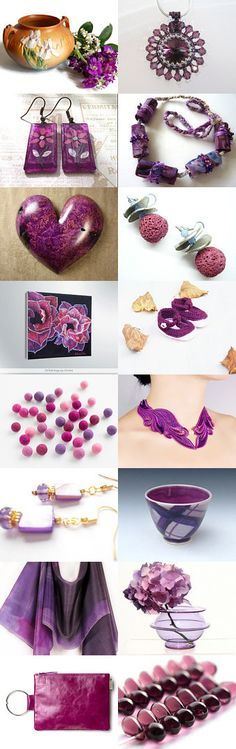 Purple Xplosion by Alice on Etsy--Pinned with TreasuryPin.com