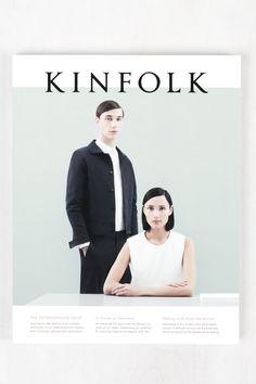 Print design ideas and inspiration. Graphic Design. Kinfolk Magazine cover. Simple, minimalistic style.