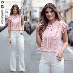 """354 Likes, 8 Comments - Bom Retiro na Moda - OFICIAL (@bomretironamoda) on Instagram: """"#Repost @seikifashion (via @repostapp) ・・・ Mais uma escolha da @arianecanovas: Flare + Blusa de…"""""""