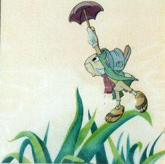 JIMINY CRICKET Jiminy Cricket, Mickey Mouse Club, Pinocchio, Disney Cartoons, Disney Wallpaper, Looney Tunes, Cartoon Characters, Paintings, Humor