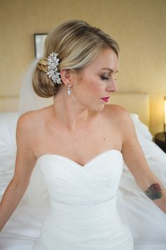 Wedding hair idea: off to the side. Description from pinterest.com. I searched for this on bing.com/images