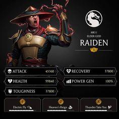 "Deadly Venom Gaming on Instagram: ""Raiden mk11 mobile stats  #mk #mortalkombat #mkx #mkxl #mkxlmobile #mortalkombatx #MKMobile #mortalkombatxl #mk11 #mortalkombat11…"" Mortal Kombat X Wallpapers, Claude Van Damme, Mortal Kombat Xl, Immortal Instruments, Mortal Combat, Cartoon Faces, Game App, Reign"