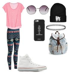 """""""Untitled #758"""" by giselaturca on Polyvore featuring Converse, Aéropostale, Monki, women's clothing, women, female, woman, misses and juniors"""