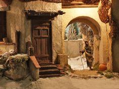Escenografías para el Belén: Belén municipal de Alcobendas Diy Nativity, Christmas Nativity, Nativity Scenes, Christmas Village Display, Fairy Garden Houses, Miniature Houses, Tenerife, Beautiful Christmas, Scenery
