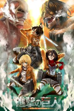Image result for attack on titan poster