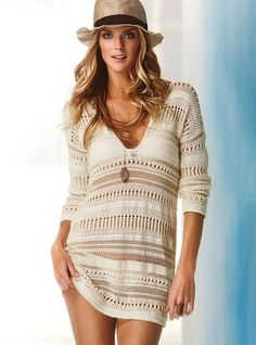 Crochet Cover-up Sweater (Victoria Secret)