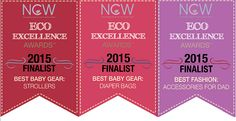 Our Strollers & Diaper Bags have been nominated Finalists for the Gear: Strollers, Gear: Diaper Bags and Fashion: Accessories for Dad categories in Natural Child World Magazine's Eco-Excellence Awards! Vote for your favorite gear, fashion accessories, breastfeeding products, cleaning products, nursery products, eco-hotels & much more! We've included a few quick links below to help vote for Bumbleride. Thank you so much for your vote!!