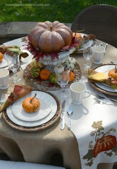 A Delicious Autumn Table with Mikasa Belmont Red | Home is Where the Boat Is