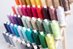 Multiple shades of thread on a thread stand