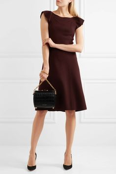 Bottega Veneta | Ruffled wool-crepe dress | NET-A-PORTER.COM