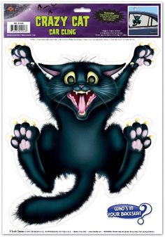 Crazy Cat Car Cling Case Pack 36