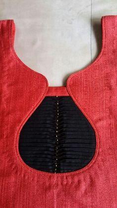 New Stylish & Trendy Kurti Neck Designs For Your Amazing Look - Kurti Blouse Chudithar Neck Designs, Neck Designs For Suits, Neckline Designs, Dress Neck Designs, Designs For Dresses, Sleeve Designs, Kurta Designs, Salwar Neck Designs, Kurta Neck Design