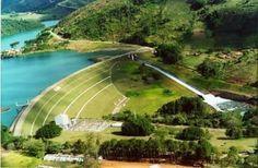 Cidade de #Caconde interior de SP -  #Barragem # Vertedouro #Represa Graminha RioPardo #Natureza