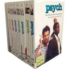 Psych Seasons 1-8 DVD box set-new complete series DVD boxset release and white and black band.