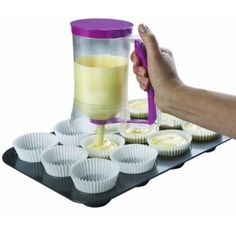 LOVE this new kitchen gadget that seamlessly dispenses pancake or cupcake batter.  Just $15 at A.C. Moore or Amazon.  Great gift idea for the baker.