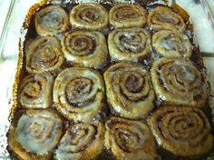 Quick, Easy, Healthy, & Delicious Cinnamon (no yeast) rolls made with fresh-ground Einkorn heirloom wheat and raw honey - soooooo good!!!