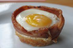 I Quit Sugar: Bacon and Egg Cupcakes Bacon Egg Cupcakes, Tasty, Yummy Food, Yummy Drinks, Yummy Recipes, Weird Food, Fett, Chocolate Recipes, Breakfast Recipes