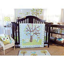 Lolli Living Animal Tree 4-Piece Crib Bedding Set Like the idea of creating a theme with  pre-school art