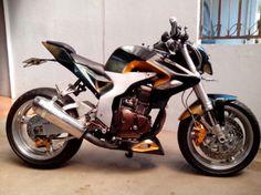 Modifikasi Yamaha Scorpio Streetfigther Airbrush