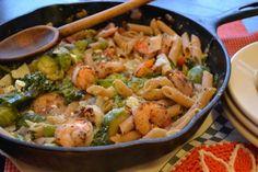 Shrimp, Parmesan & Feta Veggie Skillet Pasta   Tasty Kitchen: A Happy Recipe Community!