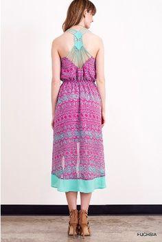 Strap Back Hi-Lo Dress