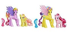 Amazon.com: My Little Pony Princess Sterling, Fluttershy, Gold Lily and Pinkie Pie Figure Bundle by MLP Toys: Toys & Games