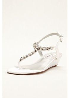Myra  Dyeable Low Wedge Thong Sandal Myra