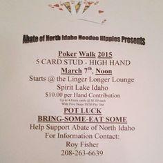 Bubble Boy Boutique: Abate of North Idaho Hoodoo Hippies Presents #Abate #PokerWalk