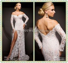 Wholesale Prom Dresses - Buy Custom 2013 Alluring Off The Shoulder Long Sleeve Lace Prom Dresses Evening Gowns Pageant Dresses, $146.25 | DHgate