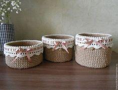 New Crochet Basket Diy Baby Blankets 41 Ideas Crochet Towel, Crochet Box, Crochet Basket Pattern, Knit Basket, Knit Crochet, Crochet Patterns, Crochet Decoration, Crochet Home Decor, Jute Crafts