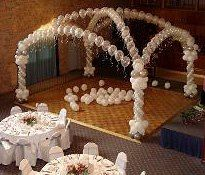 We can decorate your Wedding, Corporate Function, Trade Show, Prom, Birthday, Funeral  & Holiday Party, County Fair and more. Your event hall can be greatly enhanced by the addition of balloons.