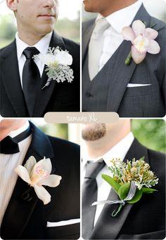 Ramo para ellas, boutonniere para ellos #boda #ideas