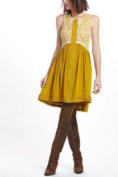 Anthropologie Rare Athena Dress by Moulinette Soeurs Size 0 Fashion Idol, Fashion Beauty, Womens Fashion, Mustard Bridesmaid Dresses, Day Dresses, Summer Dresses, Fall Looks, Yellow Dress, Affordable Fashion