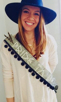 Boho alternative Bride To Be sash - Hen Party idea for the bride who hates pink and tacky accessories