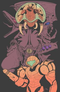 Super Metroid by rokusho1345