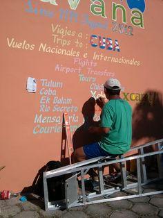 Sign Artist in Tulum, Mexico