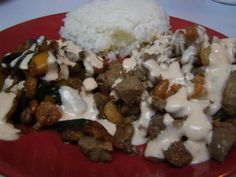 Hibachi Steak, Chicken, and Shrimp with the yummy White Sauce   Everyone I have ever made this for asks me for the recipe, so here you go world!! Pin and share :0)