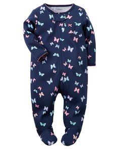 Baby Girl Cotton Zip-Up Sleep & Play | Carters.com