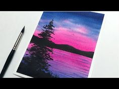 How to Paint Simple Sunset | Easy Watercolor Sunset Painting for Beginners | Daily Challenge - YouTube Watercolor Sunset, Easy Watercolor, Watercolor Landscape, Watercolor Paintings, Daily Challenges, Simple, Youtube, Watercolor Painting, Art