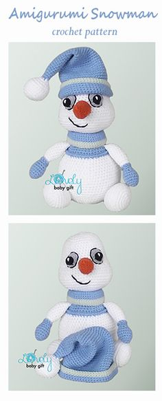 Amigurumi snowman - crochet pattern by Lovely Baby Gift