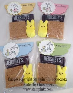 StampinTX: Stampin' Up! Easter Projects - Treat Bags Simple bag...cute