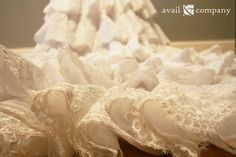 Tiered Lace Wedding Dress Ball Gown - Grace Style - Avail & Company, LLC  Fairy Tale Vintage Ruffled Dress with Tiered Alencon Lace.