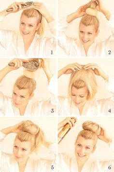 {style inspiration   hair how-to : the ballerina bun} My Daughter's always asking for a bun