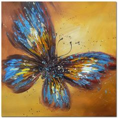 Modern Impressionism Portraits | Abstract BUTTERFLY PORTRAIT Impressionism Oil Painting Art 732(China ...